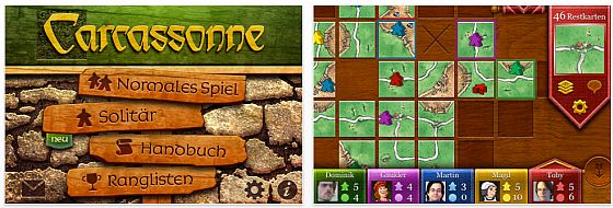 Screenshot Carcassonne App für iPhone und iPod Touch