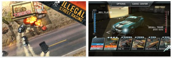 Death Rally iPhone und iPad Rennspiel Screenshot
