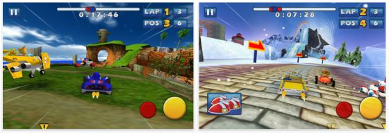 Sonic & SEGA All-Stars Racing Screenshots der App für iPhone, iPod und iPad