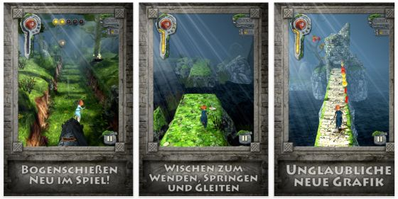 Temple Run: Merida Screenshots der Universal-App für iPhone und iPad