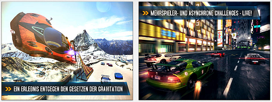 Asphalt 8: Airborne Screens