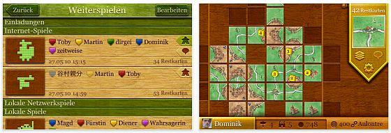 Screenshot Carcassonne App für iPhone und iPod Touch und bald für das iPad