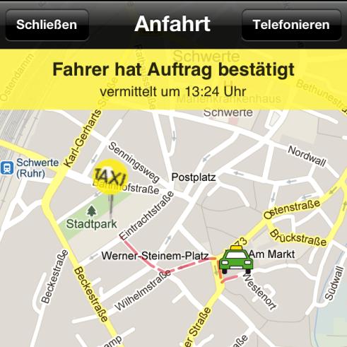 Taxi Deutschland App für iPhone, iPod Touch und iPad - Screenshot