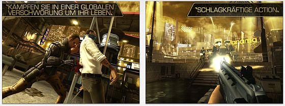 Läuft nur auf neueren Geräten, da sehr grafik- und speicherlastig: Deus Ex: the Fall