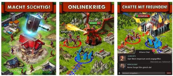 Game of War sieht auf dem iPad inzwischen besser aus, als die Screens aus dem App Store den Anschein haben. Auf dem iPhone finde ich persönlich die Darstellung etwas zu klein.