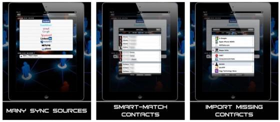 Mit AllSync wirst Du den zum Teil unterschiedlichen Kontakte in sozialen Netzwerken Herr.