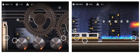 Atom Run ist ein gutes Jump and Run Spiel, in dem Du einem Roboter dabei hilfst, Atome und Moleküle einzusammeln.