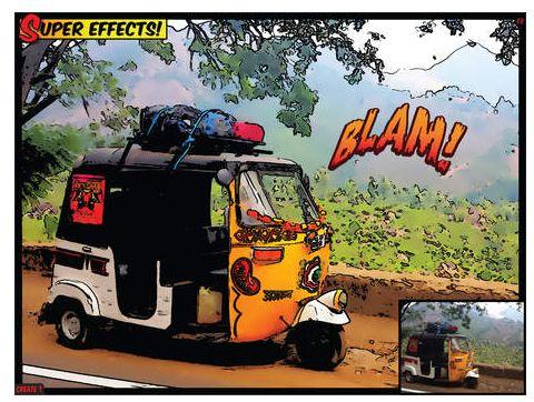 Beispielbild von ComicBook: Mit Filter und Effekt sieht das Bild tatsächlich wie gezeichnet aus.