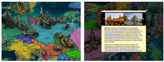 Infos über unseren Planeten und eine Darstellung auf dem iPad in 3D - das macht Spaß und ist informativ.