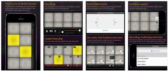 Rhythm Pad ist als Universal-App für iPhone, iPod Touch und iPad bestimmt. Am Besten funktioniert die App natürlich auf dem iPad.