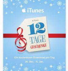 12 Tage lang Geschenke von Apple für die Nutzer von iPhone, iPod Touch und iPad