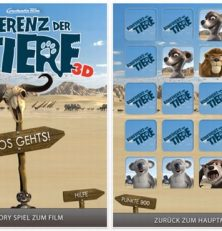 Mit Billys Memory ist nun auch die App zum Kinofilm Konferenz der Tiere für Dein iPhone, iPod Touch und iPad im Appstore erhältlich