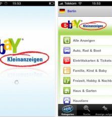 Schnell und kostenlos mit der App des Tages von eBay Kleinanzeigen suchen oder erstellen