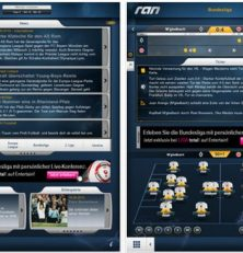 Der Ball rollt wieder mit der neuen überarbeiteten kostenlosen ran-App für das iPhone, iPod Touch und iPad